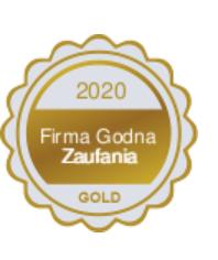 CERTYFIKAT FIRMA GODNA ZAUFANIA GOLD 2020